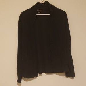 Black Zip Up Sweater with Pockets